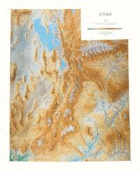 Utah, Physical, Laminated Wall Map by Raven Maps