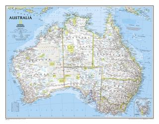 Australia, Classic, Laminated by National Geographic Maps