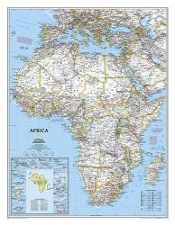 Africa Classic Wall Map (24 x 30.75 inches) (Tubed) by National Geographic Maps