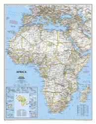 Africa Classic Enlarged Wall Map - Laminated (35.75 x 46.25 inches) by National Geographic Maps