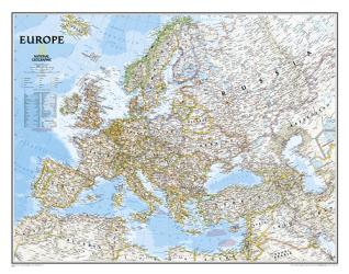 Europe Classic Wall Map - Laminated (30.5 x 23.75 inches) by National Geographic Maps