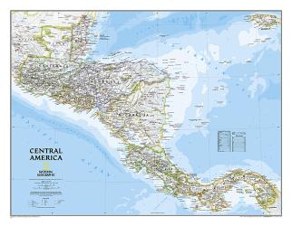 Central America, Classic, Tubed by National Geographic Maps