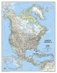 North America, Classic, Enlarged and Tubed by National Geographic Maps
