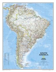 South America, Classic, Laminated by National Geographic Maps