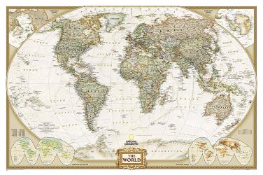 World, Executive, Tubed by National Geographic Maps