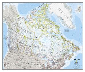 Canada Classic Wall Map (38 x 32 inches) (Tubed) by National Geographic Maps