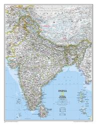 India, Classic, Tubed by National Geographic Maps