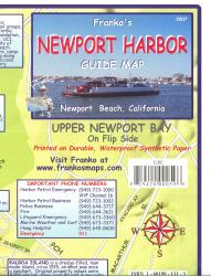 California Map, Newport Harbor/Upper Newport Bay Guide 2007 by Frankos Maps Ltd.