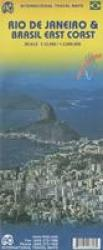 Rio de Janeiro and East Coast Travel Map by International Travel Maps