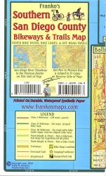 California Map, San Diego Bikeways, Southern, folded, 2010 by Frankos Maps Ltd.