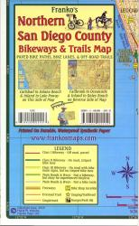 California Map, San Diego Bikeways, Northern, folded, 2010 by Frankos Maps Ltd.
