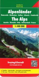 Alpine Countries by Freytag-Berndt und Artaria