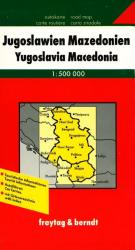 Yugoslavia and Macedonia by Freytag, Berndt und Artaria