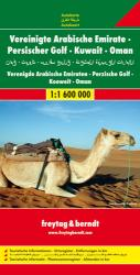 United Arab Emirates, Persian Gulf, Kuwait and Oman by Freytag, Berndt und Artaria