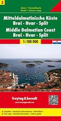 Croatia, Middle Dalmatian Coast, Brac, Hvar and Split by Freytag, Berndt und Artaria