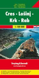 Cres, Losinj, Krk and Rab, Croatia, with nautical information by Freytag, Berndt und Artaria
