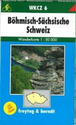Bohemia, Saxony, Switzerland, Hiking Map WKCZ 6 by Freytag, Berndt und Artaria