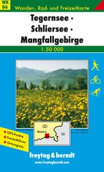 Tegernsee, Schliersee and Mangfallgebirge, Hiking Map WK D6 by Freytag-Berndt und Artaria
