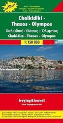 Chalkidiki, Thessaloniki, and Olympus, Greece by Freytag-Berndt und Artaria