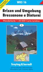 Brixen/Bressanone and Environs: Hiking Map WKS 16 by Freytag-Berndt und Artaria