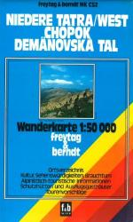 West Tatra, Chopok, Demanovska Valley, Hiking Map WK CS2 by Freytag-Berndt und Artaria