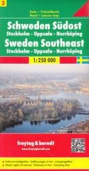 Sweden, Southeast, Stockholm, Uppsala and Norrkoping by Freytag, Berndt und Artaria