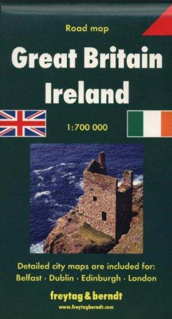 Great Britain and Ireland by Freytag-Berndt und Artaria