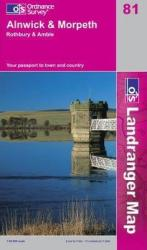 Alnwick and Morpeth, United Kindom, Landranger Map 81 by Ordnance Survey