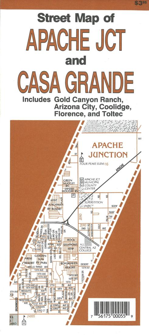 Gold Canyon Arizona Map.Street Map Of Apache Junction And Casa Grande Arizona By North