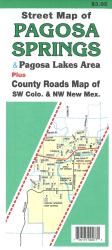 Street Map of Pagosa Springs, Colorado and the Pagosa Lakes Area by North Star Mapping