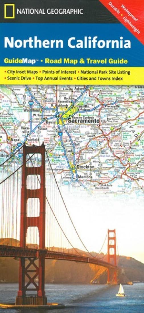California, Northern GuideMap by National Geographic Maps on
