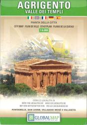 Agrigento and the Valley of the Temples, Italy by Litografia Artistica Cartografica