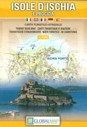 Ischia and Procida Islands, Italy by Litografia Artistica Cartografica