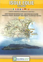 Aeolian Islands and Lipari, Italy by Litografia Artistica Cartografica