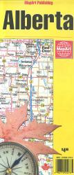 Alberta Road Map by MapArt