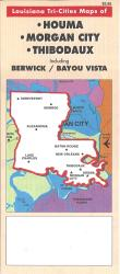 Houma, Morgan City and Thibodaux, Louisiana by Map Supply, Inc.