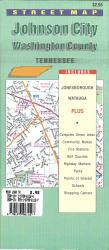 Johnson City and Washington County, Tennessee by Map Supply, Inc.