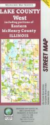 Lake County, Illinois, Western by Milwaukee Map Service