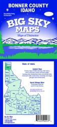 Bonner County, Idaho by Big Sky Maps