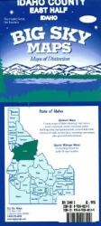 Idaho County, Idaho, east half by Big Sky Maps