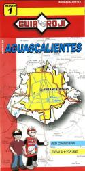 Aguascalientes, Mexico, State Map by Guia Roji