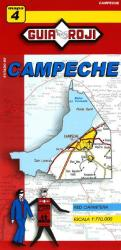 Campeche, Mexico, State Map by Guia Roji