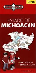 Michoacan, Mexico, State Map by Guia Roji