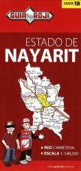 Nayarit, Mexico, State Map by Guia Roji