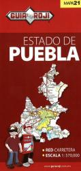 Puebla, Mexico, State Map by Guia Roji