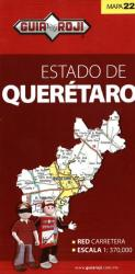 Queretaro, Mexico, State Map by Guia Roji