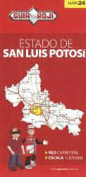 San Luis Potosi, Mexico, State Map by Guia Roji