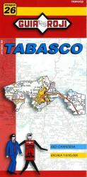 Tabasco, Mexico, State Map by Guia Roji