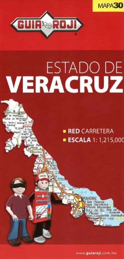 Veracruz Mexico State Map By Guia Roji