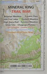 Mineral King, California Trail Map by Tom Harrison Maps